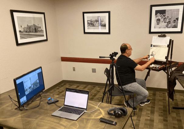 online virtual live stream class senior citizens